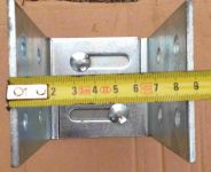 Patka kotevní U na výšku a šířku stavitelná
