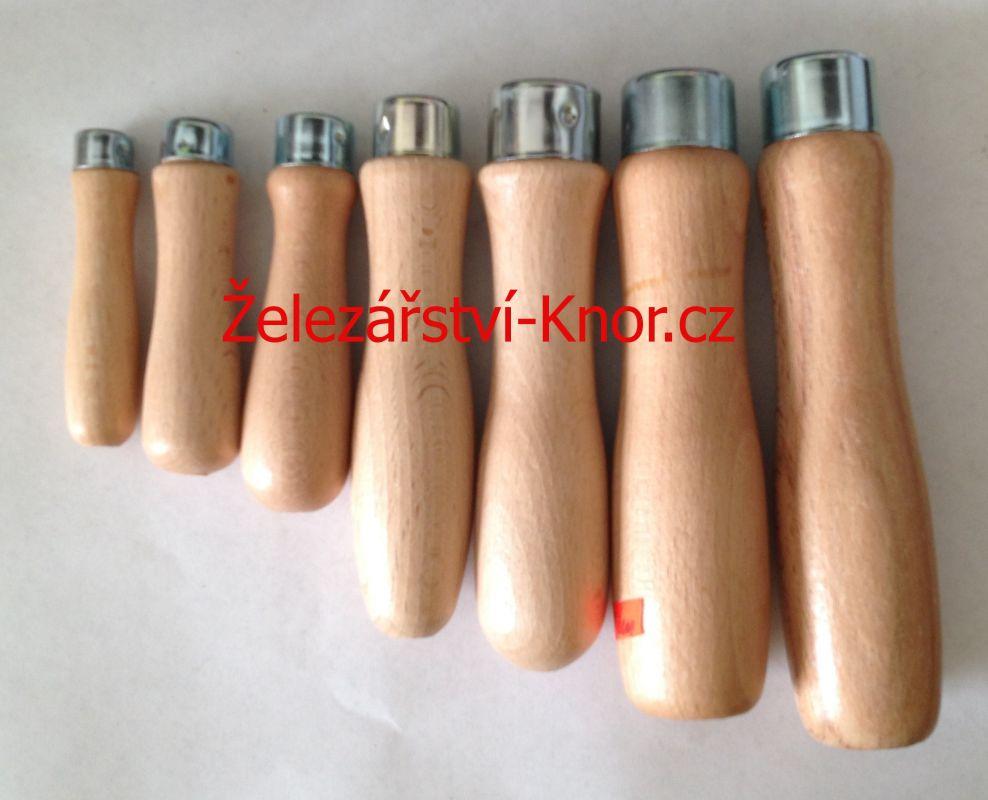 Dřevěné rukojeti na pilník