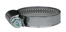 Hadicová páska stahovací  W2, 12 - 20 mm, nerez / chrom