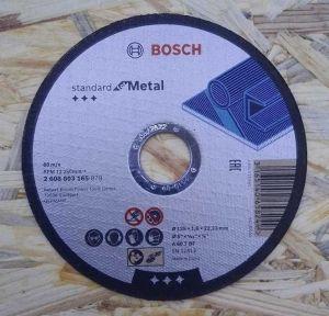 Řezný kotouč na ocel 115 / 1,6 mm - Bosch