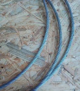 Ocelové lano 6 mm, počet drátu 6x19M - FC, Zn.