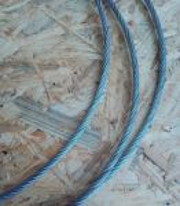 Ocelové lano 10 mm, počet drátu 6x19M - FC, Zn.