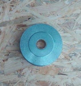 Kladka - rolna s ložiskem 100mm, soustružená, lano max 10mm