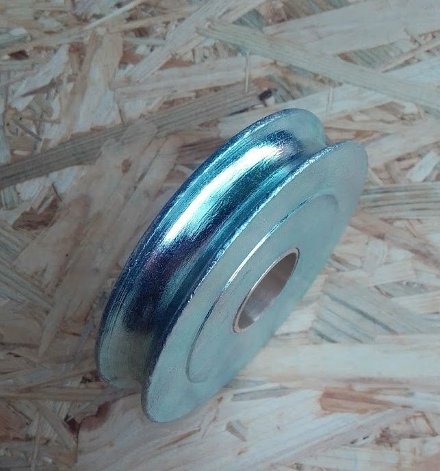Kladka - rolna s ložiskem 125mm, soustružená, lano max 12mm