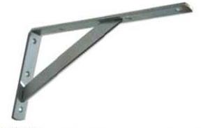 Konzole policová s podpěrou pro velké zatížení 100 x 250 mm