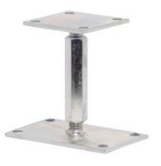 Kotevní patka pilíře stavitelná - zinek galvanický
