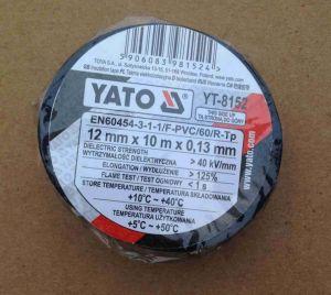 Izolačka elektrikářská PVC šíře 12mm délka 10m, černá