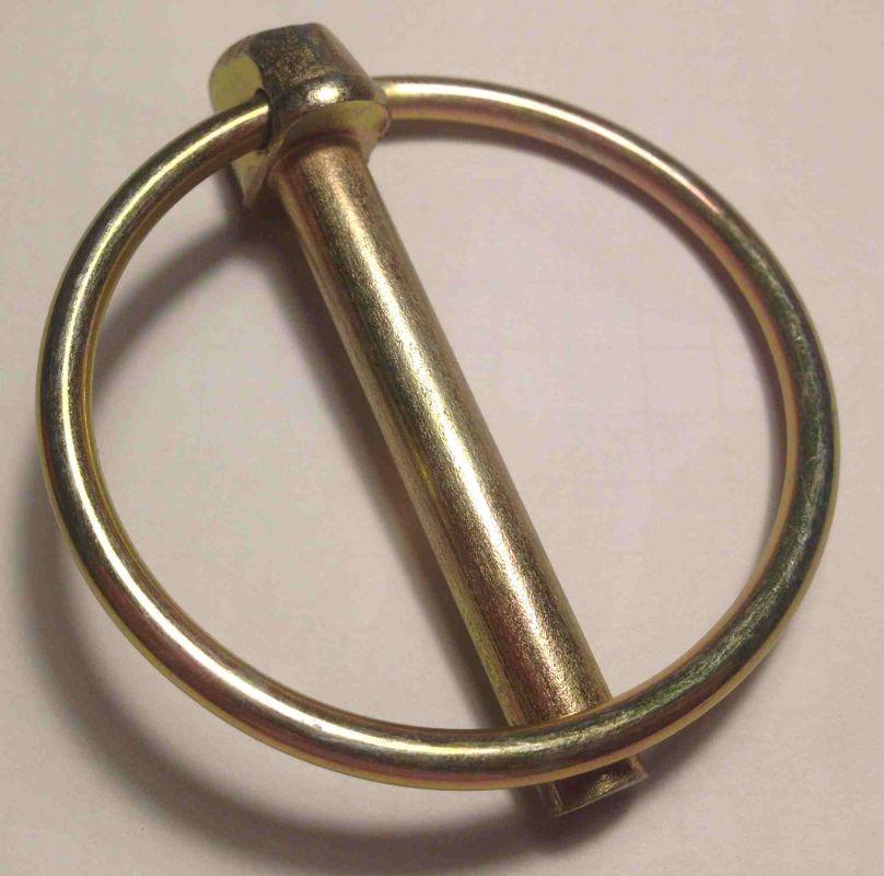 Ocelová závlačka s kroužkem 6x42mm