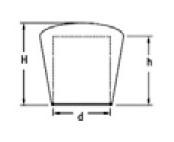 Návlek na trubku kuželový 22mm