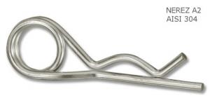 Závlačka dvojitá pružinová nerezová 4 mm