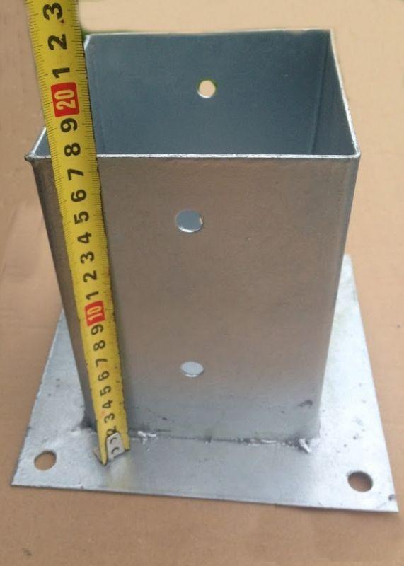 Patka sloupku čtvercová 100x100mm ( s deskou )