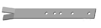 Držák plotu - k zabetonování 390mm