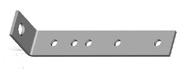 Kotevní profil - zahnutý, 245mm