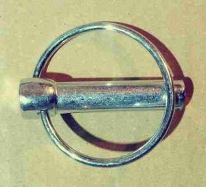 Ocelová závlačka s kroužkem 11x45mm