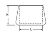 Zátka do trubky oválná - 30x15mm