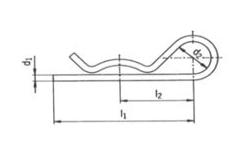 Závlačky pružinové jednoduché - nerezové
