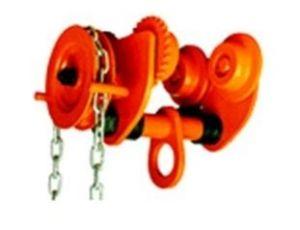 Kočka řetězová s pojezdem 500 kg, svorník 75 - 125 mm