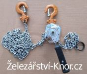Ruční ráčnový řetězový zvedák - 250 Kg