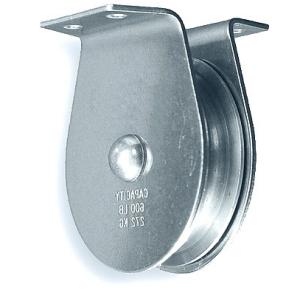 Kladka 125mm k přišroubování přírubou, ocel, Zn.