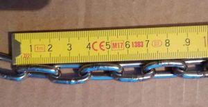 nerezový řetěz 4mm