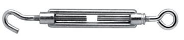 Napínák lanový hák - oko M6x100mm (zinková slitina)
