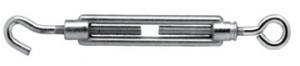 Napínák hák - oko M10x120mm (zinková slitina)