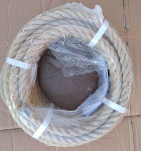 Jutové lano 4 - pramenné - stlačené 40 mm, 4 metry