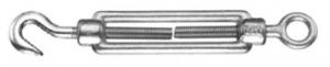 Napínák otevřený M12, hák - oko. DIN1480, Zn.