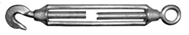 Napínák M12, oko - hák, litina