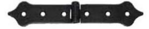 Závěs - zdobený ocelový 148x28mm