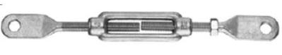 Napínák 2x ploché oko, M20, DIN 1480, Zn.