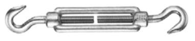 Napínák otevřený, M10, hák-hák, DIN1480, Zn