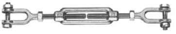 Napínač M8, 2x vidlice DIN 1480, Zn.