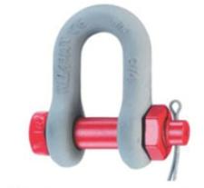 """Řetězový třmen s šroubem a závlačkou 10mm """"D"""" pevnostní, 1000kg,"""