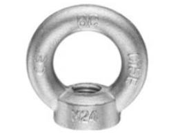 Závěsné oko s maticí M6, DIN 582, Zn.