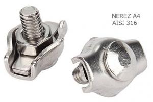Simplex lanová svorka, 4mm, Nerez A4