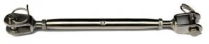 Napínací šroub M5, 2x vidlice, Nerez A4