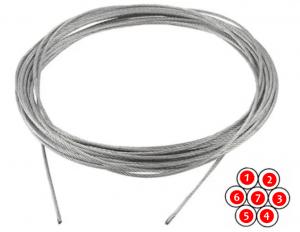 Nerezové lano 1x7 , 1,5mm, prodej po metru