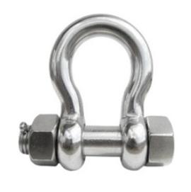 Třmen řetězový - Omega typ s maticí a závlačkou, síla 6mm nosnost 100kg, nerez A4.