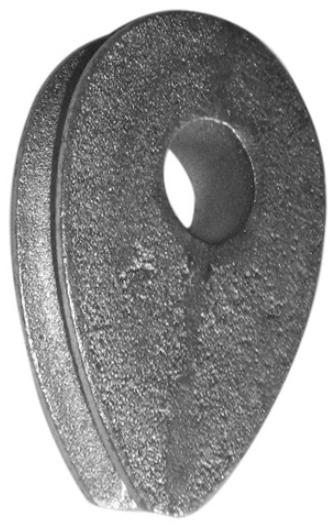 Lanová očnice litinová pro lano 22mm - DIN 3091 - bez. p.ú.