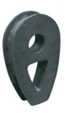 Lanová očnice litinová pro lano 30mm - DIN 3091 - bez. p.ú.