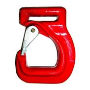Hák s pojistkou pro kurty - textilní pásy, tř. 8, nosnost 1600 kg
