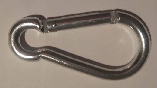 Stříbrná karabina - hliníková