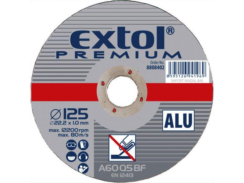 Řezný kotouč na hliník 125x1,0mm - Extol Premium