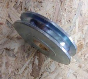 Rolna - kladka s ložiskem - soustružená, 125mm, lano 14mm