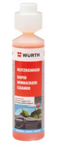 Letní směs do ostřikovačů WÜRTH (broskev) -  bleskový čistič - koncentrát 250ml - 0892333250
