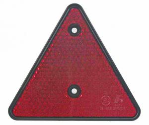Odrazka trojúhelník 152x135mm - zadní červená