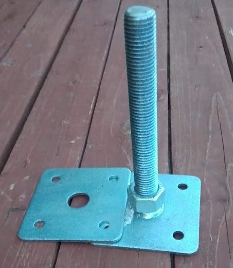 Patka dřevěného pilíře 200mm - závit M24 - volná vrchní deska