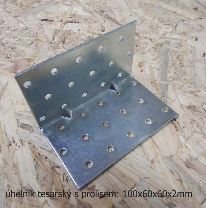 spojovací úhelník s prolisem 100 x 60 mm