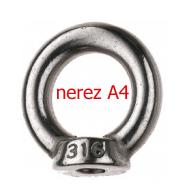 Závěsné oko s maticí M6 - nerez A4 - DIN 582